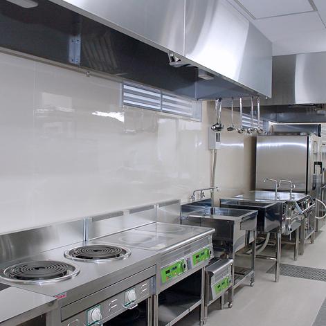 病院キッチンの使用例