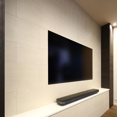 リビングルーム テレビボード周辺 日本住宅パネル工業協同組合 大阪支所