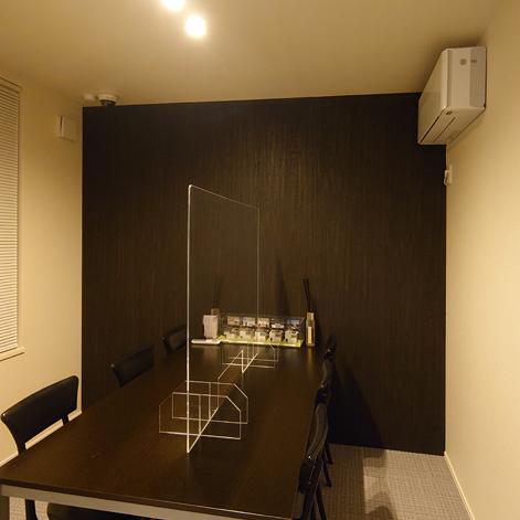 住宅メーカー展示場 打ち合わせコーナー壁面